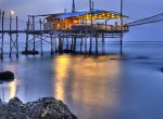 Trabocco (Old fishing house) Punta Rocciosa Fossacesia Chieti  Italy  sunset